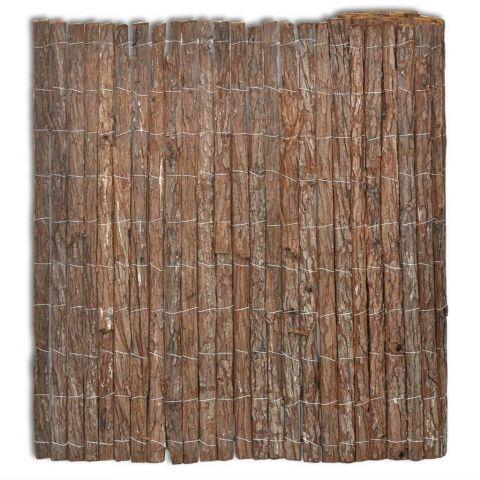 Ограда от дървесна кора
