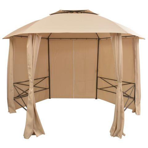 Градинска шатра със завеси
