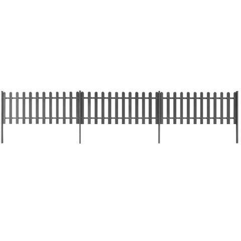Дъсчена ограда с колчета
