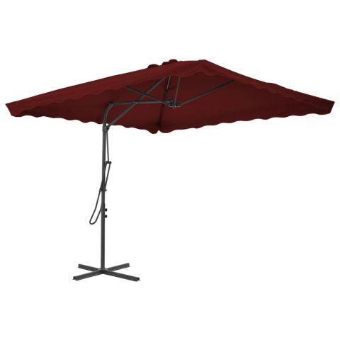 Градински чадър със стоманен прът