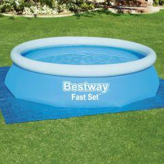 Bestway Подложка за наземни басейни Flowclear, 335x335 см
