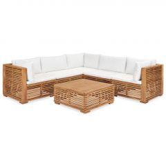 Градински комплект с възглавници