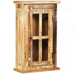 Стенен шкаф, регенерирано дърво масив, 44x21x72 см
