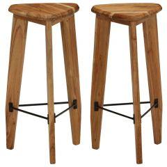 Бар столове Bevan, 2 бр, акациево дърво масив