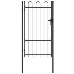 Оградна порта една врата арковиден връх стомана 1х1
