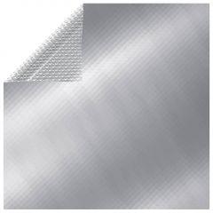 Покривало за басейн, сребристо, 450x220 см, PE