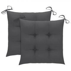 Възглавници за градински столове 2 бр антрацит 40x40x7 см плат