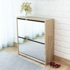 Шкаф за обувки с двойно огледало