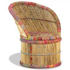 Бамбуков стол с Chindi детайли