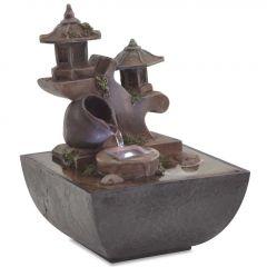 Вътрешен фонтан с LED осветление Potter, полирезин