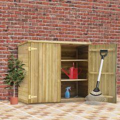 Градинска барака за инструменти, 135x60x123 см, импрегниран бор
