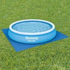 Bestway Подложка за наземни басейни Flowclear, 396x396 см