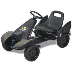 Детски картинг с педали, с регулируема седалка, черен