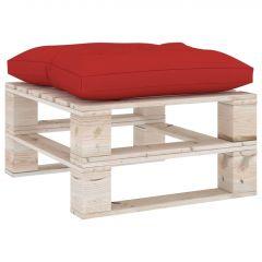 Палетна възглавница за табуретка, червена, плат