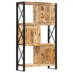 Етажерка за книги, 90x30x150 см, мангово дърво масив