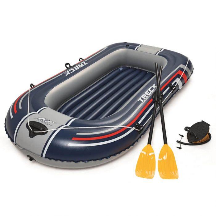 Bestway Hydro-Force Надуваема лодка с помпа и гребла, синя, 61083