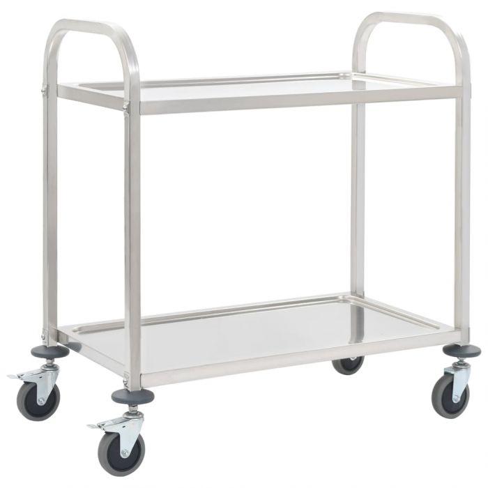 Кухненска количка с 2 рафта