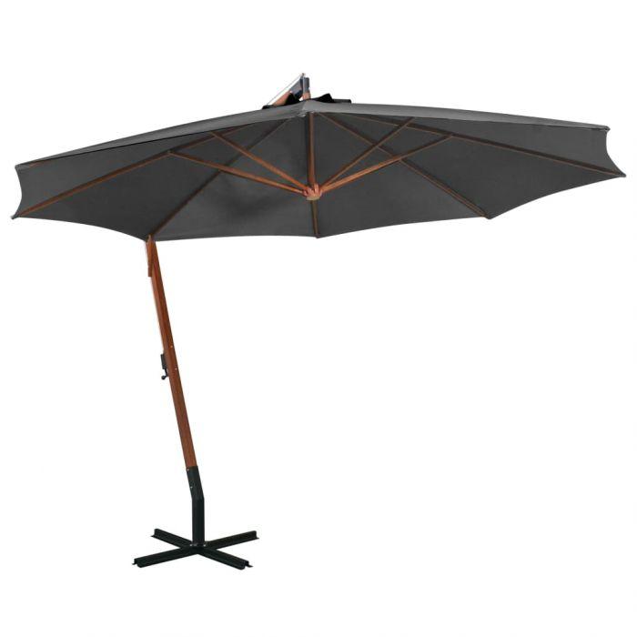 Висящ чадър с прът