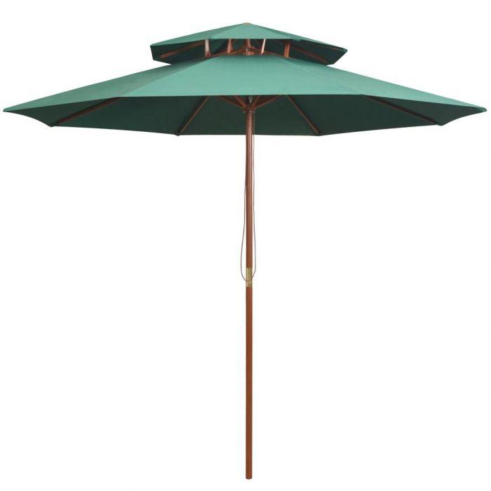 Чадър с двоен покрив и дървен прът