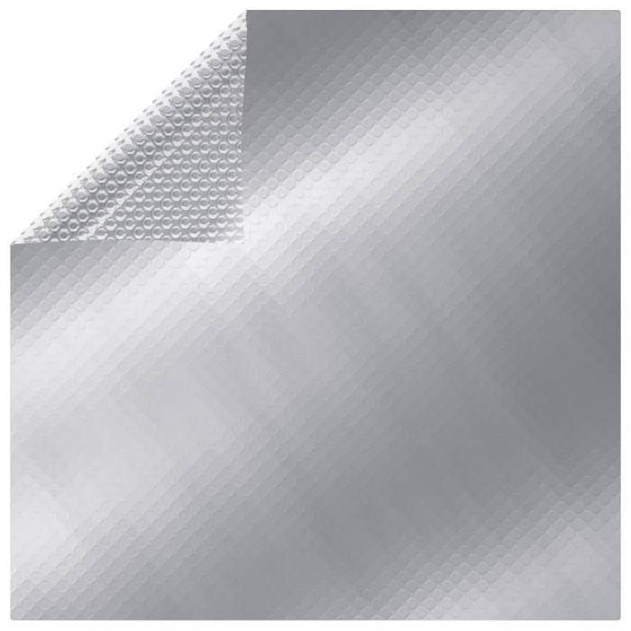 Покривало за басейн, сребристо, 732x366 см, PE