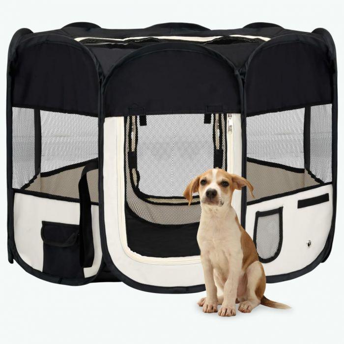 Сгъваема кучешка кошара с чанта за носене