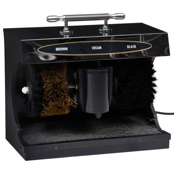 Електрическа машина за полиране на обувки, автоматична, черна