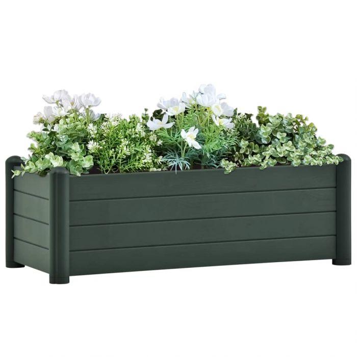 Градинска висока леха, PP, зелена, 100x43x35 см
