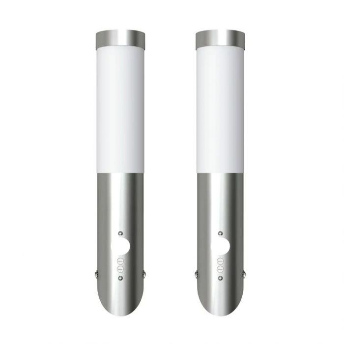 Стенни лампи със сензор за движение, 6 х 36 см – 2 броя