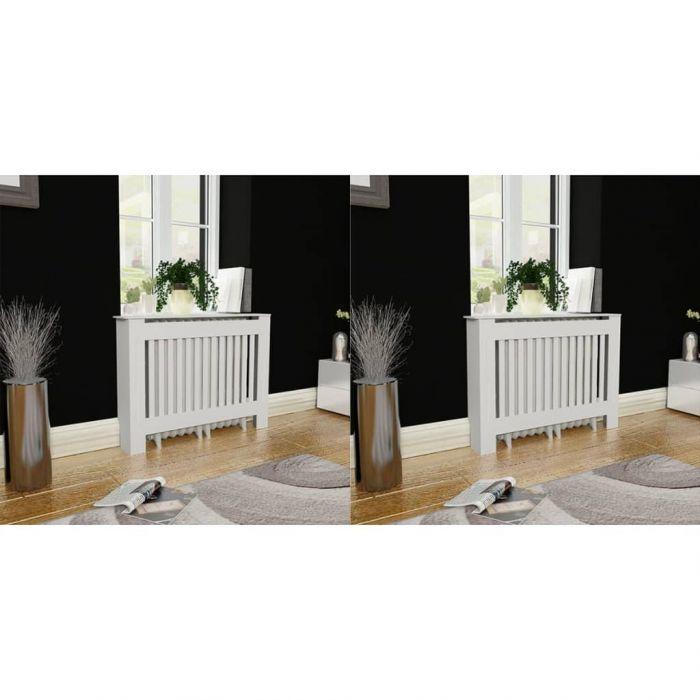 Бяла MDF декоративна решетка за отопляващ радиатор