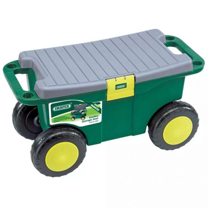 Draper Tools Градинска количка седалка 56x27,2x30,4 см зелена 60852