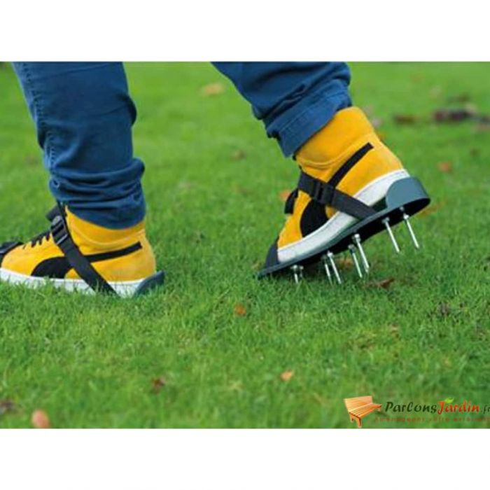 "Nature Аератор обувки за тревни площи тип ""сандали"", зелен"