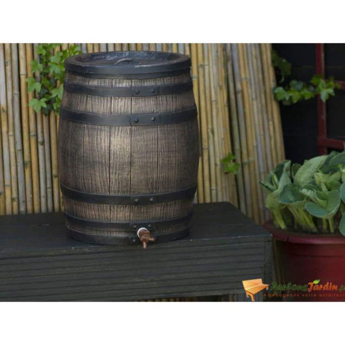 Nature Варел за дъжд, имитация на дърво, 50 л, 38x49,5 см, кафяв