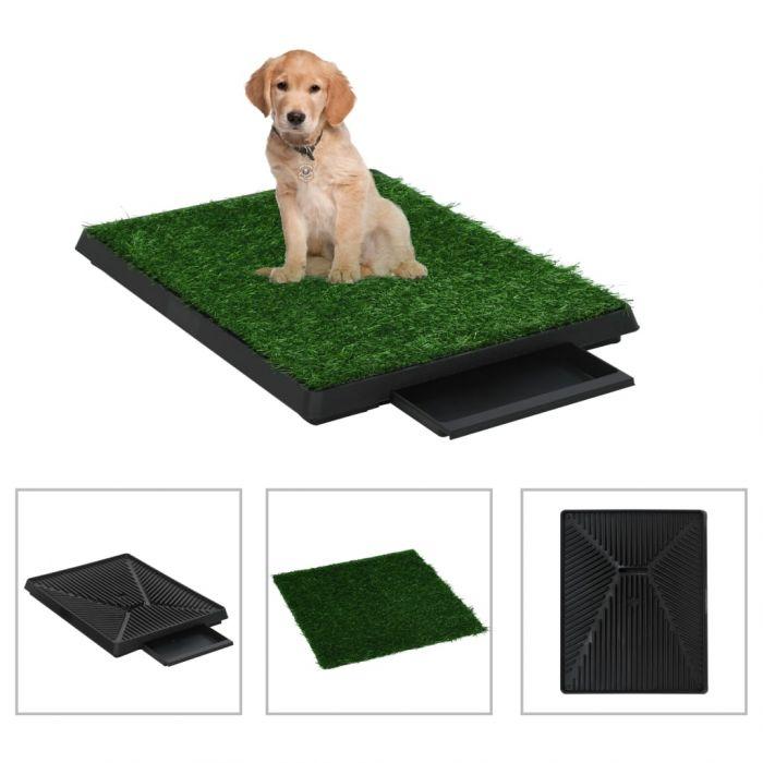 Кучешка тоалетна с тава и изкуствена трева