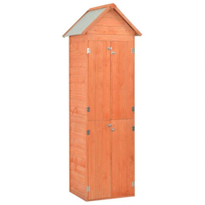 Градински шкаф за съхранение, 71x60x213 см, дърво