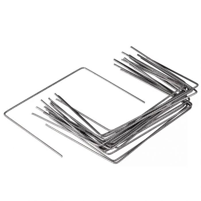 Nature Фиксиращи скоби за мрежа срещу плевели, 20 бр, 25x20 см, метал