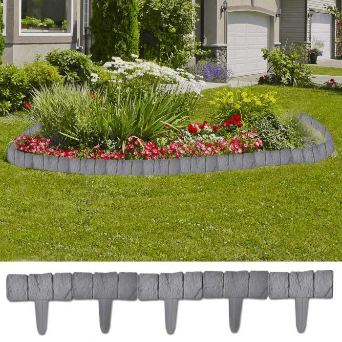 Ограда за леха с вид на камъни