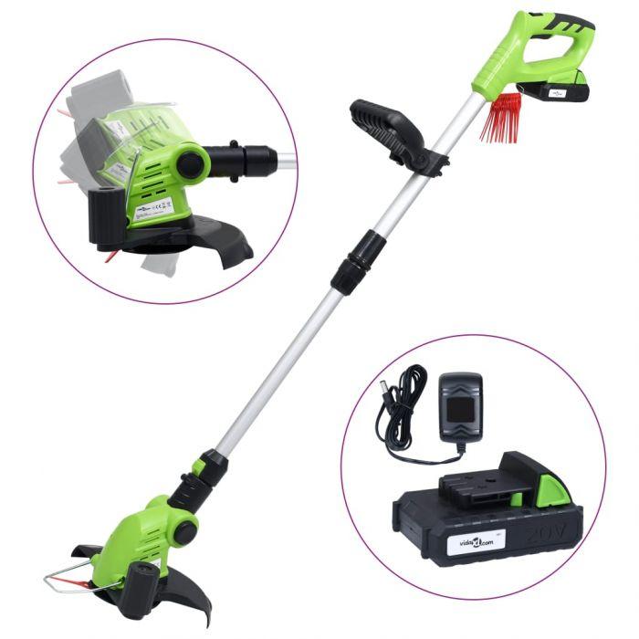 Безжичен тример за трева с батерия 20V 1500 mAh Li-ion