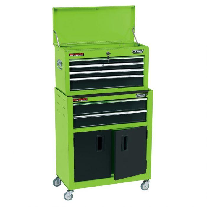 Draper Tools Комбиниран шкаф за инструменти 61,6x33x99,8 см зелен