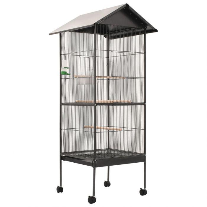 Клетка за птици с покрив