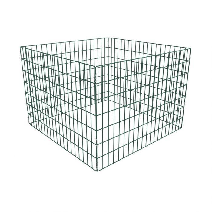 Квадратен мрежест градински компостер, 100x100x70 см