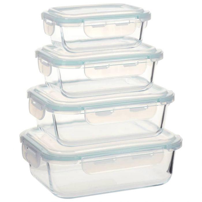 Стъклени кутии за съхранение на храна