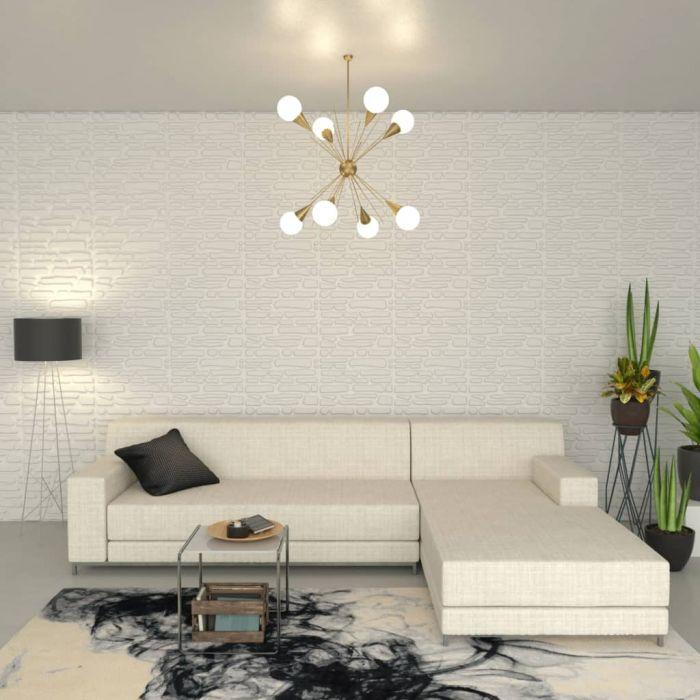 3D пано за стена с вълнообразен ефект 6м²  – 12 панела 0