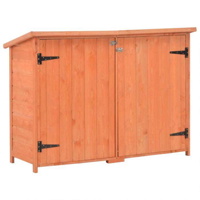 Градински шкаф за съхранение, 120x50x91 см, дърво