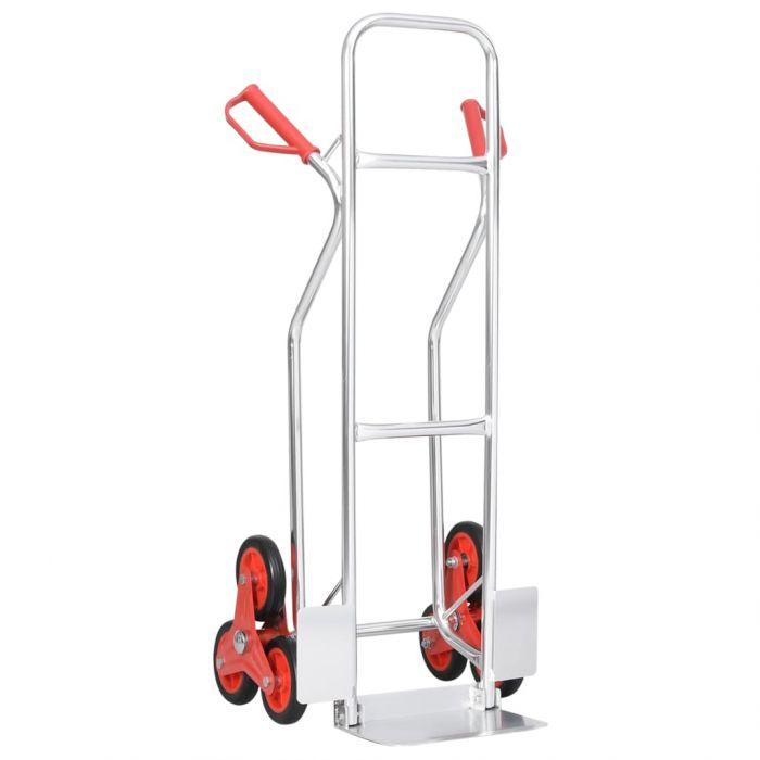 Ръчна количка за стълбище с 6 колела, 51x53,5x118 см, 150 кг