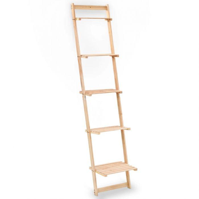 Стенен рафт тип стълба, кедрово дърво, 41,5x30x176 см