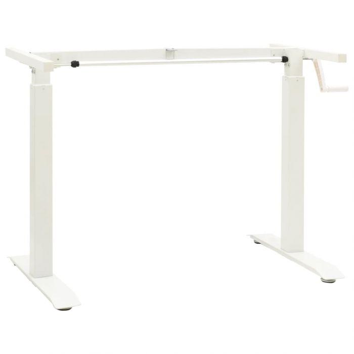Механизъм за ръчно повдигане на стоящо бюро ръчна манивела бял