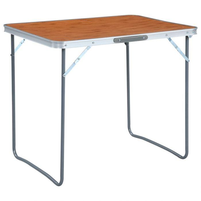 Сгъваема къмпинг маса с метална рамка