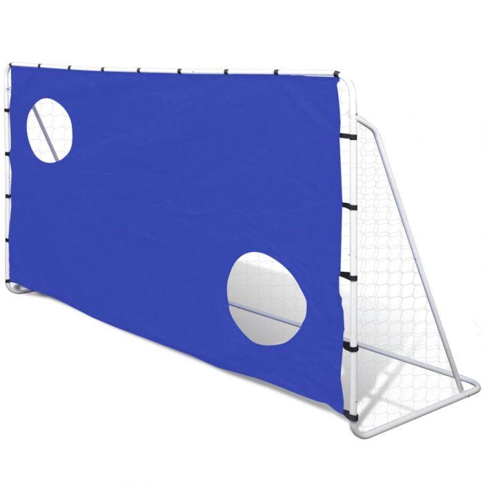 Футболна врата с целеви точки стоманена 240 х 92 х 150 см