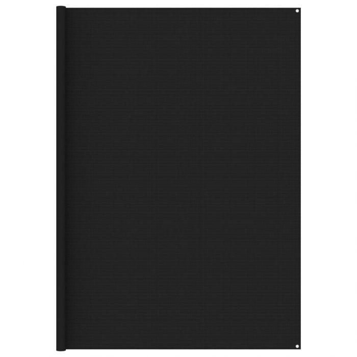 Килим за палатка, 300x600 см, черен
