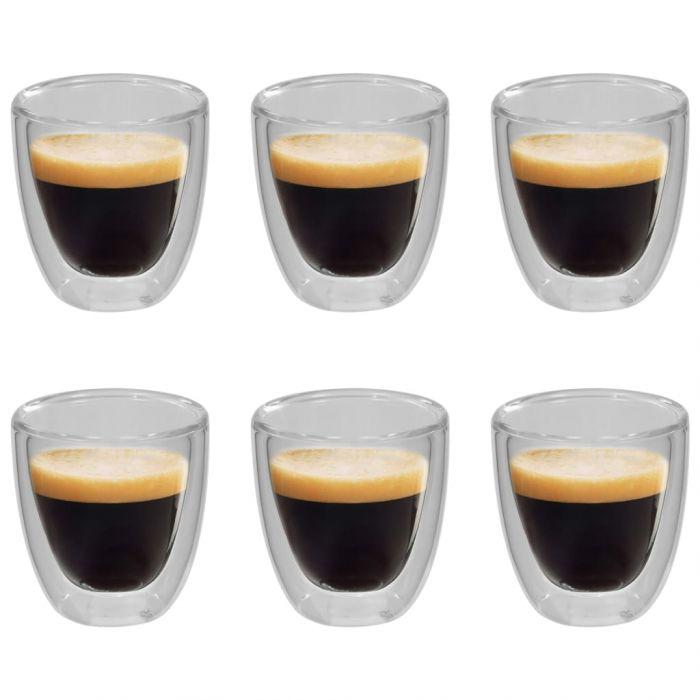 Термо чаши с двойна стена за кафе еспресо